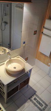 Le Lézard Bleu chambre Mykonos vasque